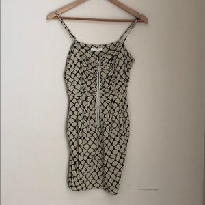 Zipper front cami dress with pocket